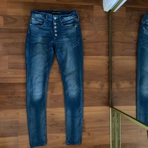 Women express mid rise legging jeans in 0R